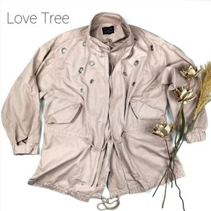 💥 Love Tree 💥 Silver Ring Taupe Mauve Jacket M